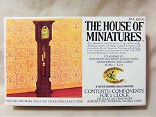 House of Miniatures Dollhouse William & Mary Tall Case Clock Kit Vtg 1977 8248