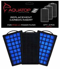 AQUATOP Aquarium Carbon Cartridge for PF25-UV Hang On UV Filter 3pc