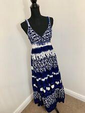 ac5b8756ce MONSOON Tie Dye Beaded Fit & Flare Maxi Summer Beach Dress 10 Tie Back Boho