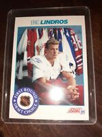 1991 Score #329 ERIC LINDROS PHILADELPHIA FLYERS HALL OF FAMER ROOKIE CARD