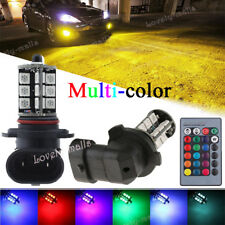 2X 9005 HB3 9145 H10 10000K RGB Yellow Ice Blue Green LED Fog Driving Light Bulb