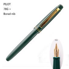 2017 Pilot 78G+ Fountain Pen Screw Cap Broad Nib Green Classic Pen