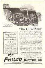 1924 vintage AD PHILCO Diamond Auto Batteries Art Old car on ferry  050516