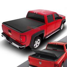 FOR 02-16 DODGE RAM PICKUP TRUCK TRUNK BED 8' TRI-FOLD SOFT BLACK TONNEAU COVER