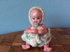 Baby Babypüppchen Schildkröt gemarkt 10 Puppenstube Puppenhaus dollhouse doll