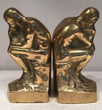 Solid Brass Book Ends Man Figurine Made In Korea