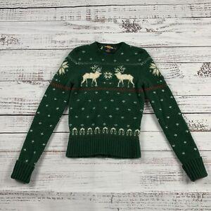 Polo Ralph Lauren Boys Reindeer Lambs Wool Sweater Boys Size S