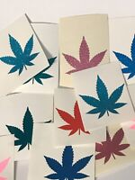 MARIJUANA POT LEAF Wholesale Lot 25 Vinyl Decal Sticker Window Bumper 2""
