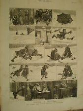 New year's day première assise en ecosse 1876 old prints ref v