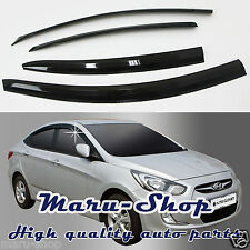 Smoke Door Window Vent Visor Deflector for 12~17 Hyundai Accent/Verna 4DR