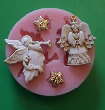 ANGELS SILICONE MOULD FOR CAKE TOPPERS CHOCOLATE ETC