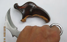 Ethnic Handmade PENCAK Silat Karambit Knife BIKER Weapon EAGLE HEAD CARVED
