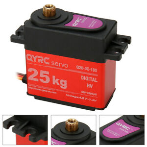 25KG QYRC Waterproof Digital Servo Steering Gear For 1:8/1:10 RC Car Boat Robot