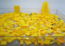 Lego Lot of Yellow Bricks & Plates 300 Pieces All Sizes & Shapes Cleaned!