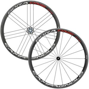 New Campagnolo Bora One 35 Carbon Road/ Tubular Wheelset / Black/Red