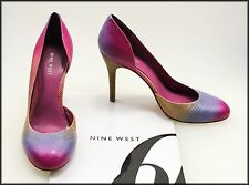 Leather Nine West Multi-Colored Shoes for Women