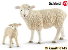 Schleich EWE & LAMB solid plastic toy farm pet animal SHEEP * NEW *💥