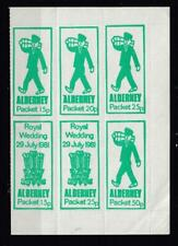 1981 Royal Wedding Alderney Packet Local Issue Bolck  Of 6 In Green Unmounted Mi