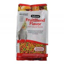 Bird Food for Medium Birds, ZuPreem FruitBlend Flavor, Cockatiels Lovebirds 14oz