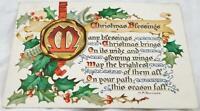 Antique Raphael Tuck Christmas Postcard Postmarked 1908