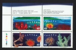 CORALS = JOINT ISSUE with HONG KONG - Canada 2002 #1951a UL PB MNH