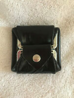 Vintage Black Leather Change/Coin Purse~Snap Closure - Very Good Condition!