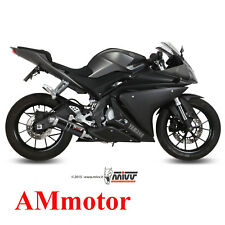 Full Exhaust System Mivv Yamaha Yzf R125 2015 15 Gp Black Motorcycle