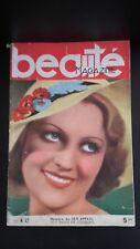 REVUE BEAUTE MAGAZINE  DE CHARME N°42 1934 ABE