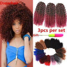3pcs/Set 8 inch Afro Marlybob Curly Crochet Hair Synthetic Mali Bob Braided Hair