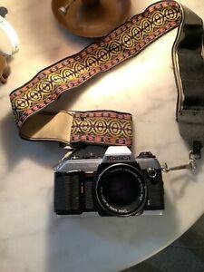 Konica FT-1 Motor SLR Film Camera / Hexanon 50mm F1.7
