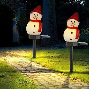 Waterproof LED Solar Lights Xmas Snowman Garden Lamp for Outdoor Courtyard Decor