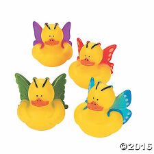 Butterfly Rubber Duckies  12 Pack 2""