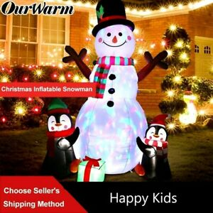 Xmas Snowman Indoor Yard Deco with US, UK, EU Plug Led Light Inflatable Kids Toy