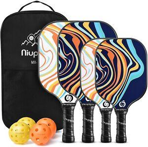 Niupipo MX-23  Pickleball Paddles, Parent - Child Pickleball Set 4 Paddles NEW