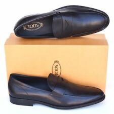 TOD'S Tods New sz UK 11.5 US 12.5 Mens Designer Leather Loafers Shoes black