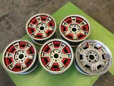 5 x orig. Ferrari Fiat Dino Cromodora Felgen 6,5J x 14 Zoll - Rims Wheels Räder