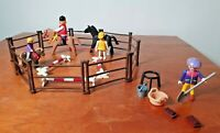 Playmobil Geobra Vintage Horse Riding training with Figures and Accessories