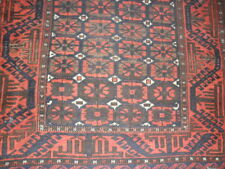 Beluch, Hand-Knotted Wool on Wool, 1930s, Rare, Teke Yamood Family 64''x36'&# 039;