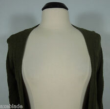 ABERCROMBIE & FITCH Dark Green Wool Blend Embellished Pockets Cardigan Sweater S
