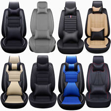 13×Deluxe PU Leather Car Seat Cover Cushion Protector 5-Seats Full Set Universal