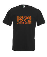 1972 Limited Edition Orange Text Cool T-SHIRT ALL SIZES # Black