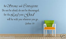 Joshua 1:9 BE STRONG AND COURAG Bible vinyl wall Sticker decal quote Inspiration