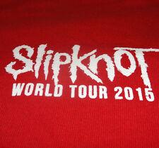 Slipknot Shirt XL Red World Tour 2015 Local Crew Concert Metal Show