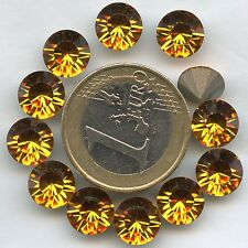 1028 SS40 T *** 6 STRASS SWAROVSKI FOND CONIQUE-POINT BACK 8,55MM TOPAZ F