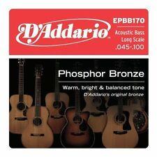Jeu de 4 cordes D'Addario EPBB170 Phosphor Bronze  basse acoustique 45/65/80/100