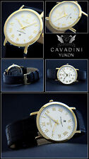 Classic cavadiniflache Men's Watch PURE LUXURY ROMAN NUMBERS Sapphire Coated