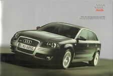 Audi A3 3-dr Sportback S3 2007-08 UK Market Sales Brochure SE Sport S line