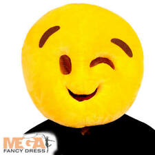 Wink Face Mask Adults Fancy Dress Smiley Emoji Mens Ladies Costume Accessory New