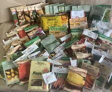 2008 Vegetable Seeds.Heirloom, Organic, Burpee, +misc Varieties.Most unopened