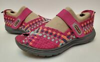Cobb Hill New Balance Women's Wink Mary Jane Woven Open-Toe Shoes Size 6 Pink
